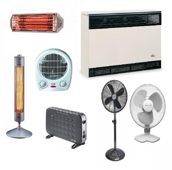 Topidla, infrazářiče, ventilátory