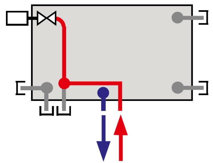 Spodní napojení středové (VKM8-U)
