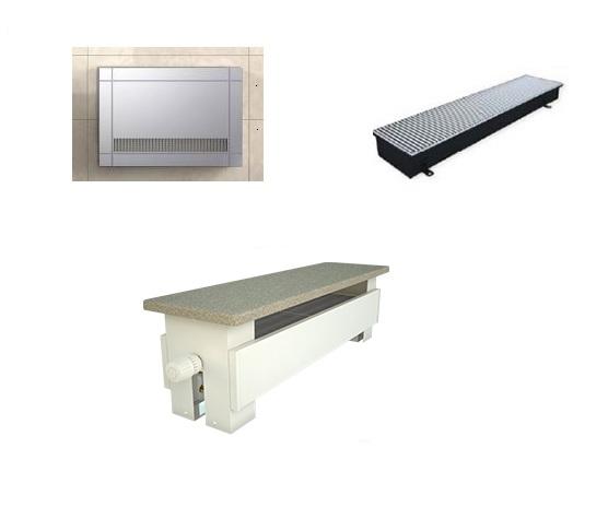 Konvektorové radiátory, lavice