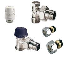 Ventilový set pro radiátory s bočním připojením , rohový,  CU15 EK*1/2  IVAR KIT VS 2106 N