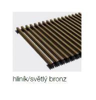 Krycí mřížka KORAFLEX PM hliníková / bronzová světlá 26x80 cm