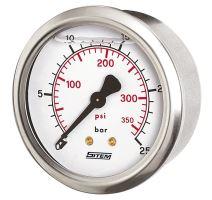 Manometr průmyslový glycerinový průměr 63 mm - 16 BAR (zadní připojení)