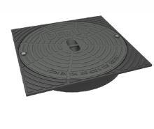 Poklop litinový čtvercový HECKL IBERUS pro KG 400, DN 400, nosnost 12,5 t