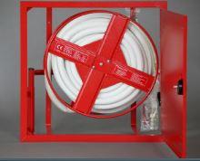 Hydrantová skříň vestavěná prosklená DN 19 návin 20 m - bílá Ral 9003 - komplet