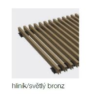 Krycí mřížka KORAFLEX PM THIN hliník bronz světlý 14x80 cm