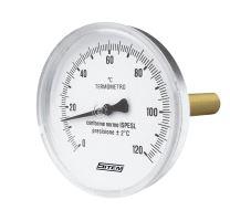 Teploměr průmyslový průměr 63 mm s jímkou (zadní připojení)