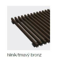 Krycí mřížka KORAFLEX PM THIN hliník bronz tmavý 14x90 cm