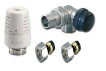 Ventilový set pro koupelnové radiátory, úhlový, IVAR KIT VCD - CU 15 - pravý