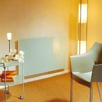 Skleněný elektrický radiátor SOLARIS 630/750, bílý, lesklý, s termostatem, výkon 750 Wattů