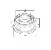 BOSCH připojovací vertikální adaptér 80/125