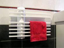 Elektrický sušák ručníků LINER.E 550 x 395 x 80, bílý, výkon 80 Wattů