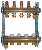 Herz 1853210 rozdělovač a sběrač podlahového vytápění, 10 okruhový, DN25, s průtokoměrem