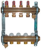 Herz 1853215 rozdělovač a sběrač podlahového vytápění, 15 okruhový, DN25, s průtokoměrem