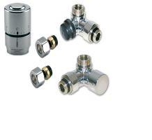 NEREZ (INOX) Ventilový set pro koupelnové radiátory, úhlový, IVAR DV 016028 - pro CU15