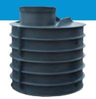 Šachta vodoměrná k obsypu HECKL, ovál, průměr 1000x1200 mm, výška vč. komínu 1500 mm