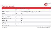 tabulka technické parametry