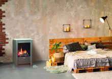 Volně stojící plynová krbová kamna KARMA SENSE, 5,0kW, odtah přes zeď, ZP, věčný plamínek