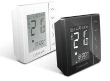 Týdenní programovatelný termostat SALUS VS20WRF černý, bezdrátový, bateriové napájení