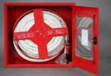 Hydrantová skříň prosklená DN 19 návin 20 m - bílá Ral 9003 - komplet