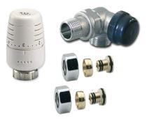 Ventilový set pro koupelnové radiátory, úhlový, IVAR KIT VCS/1 - PEX 16 - levý