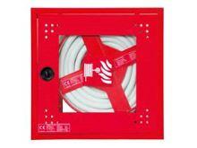 Hydrantová skříň vestavěná prosklená DN 25 BI návin 20 m - Bílá, Ral 9003 - komplet