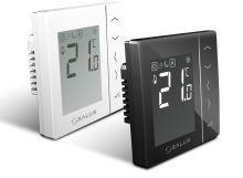 Denní programovatelný termostat SALUS VS35B černý, kabelový, napájení 230V